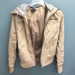 Jackets & Blazers - Tan/Khaki Bomber Jacket